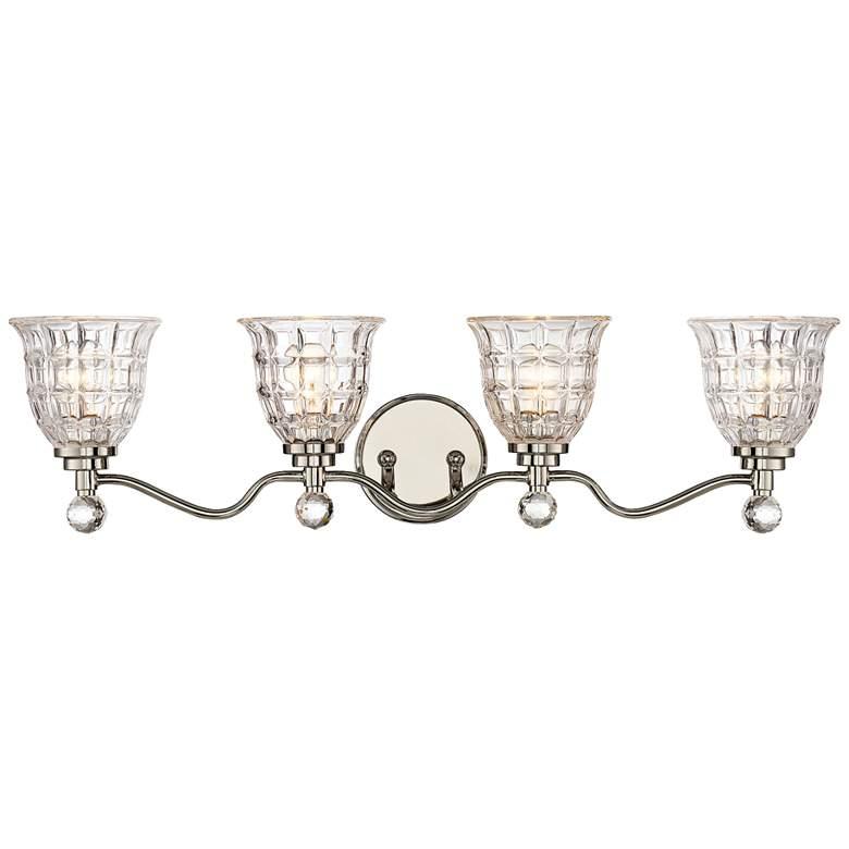 "Savoy House Birone 33""W 4-Light Polished Nickel Bath Light"