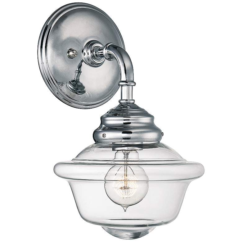 "Savoy House Fairfield 12 3/4""H Polished Chrome Wall Sconce"