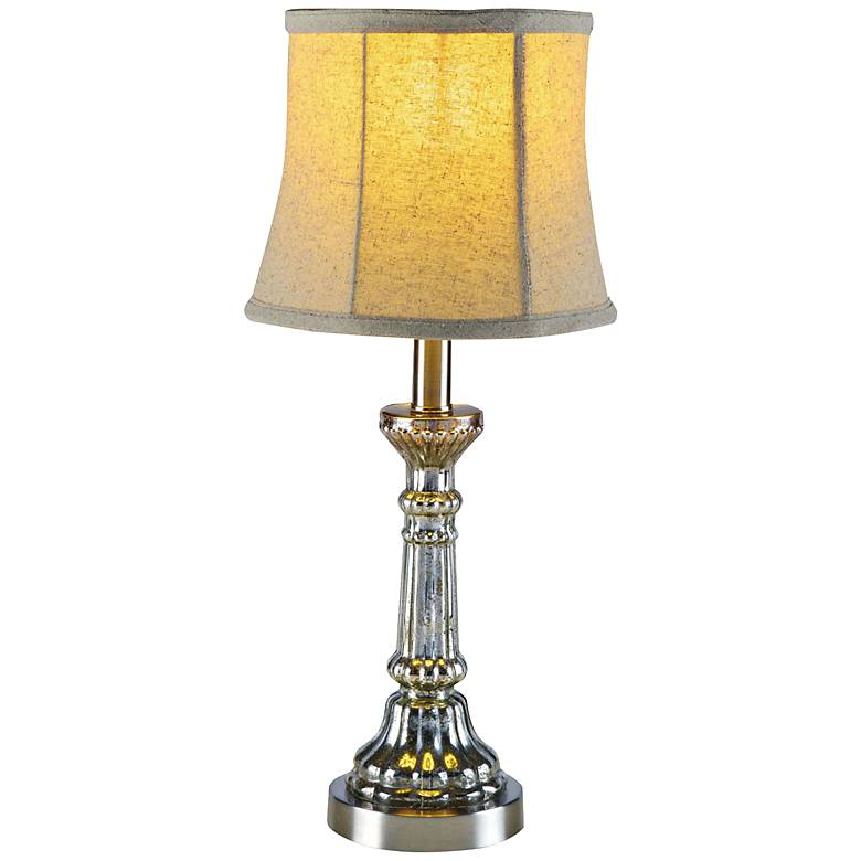 Marooney Brushed Steel Mercury Glass Accent Table Lamp
