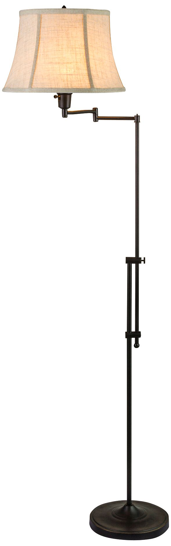 Merveilleux Chaverra Bronze Adjustable Swing Arm Floor Lamp