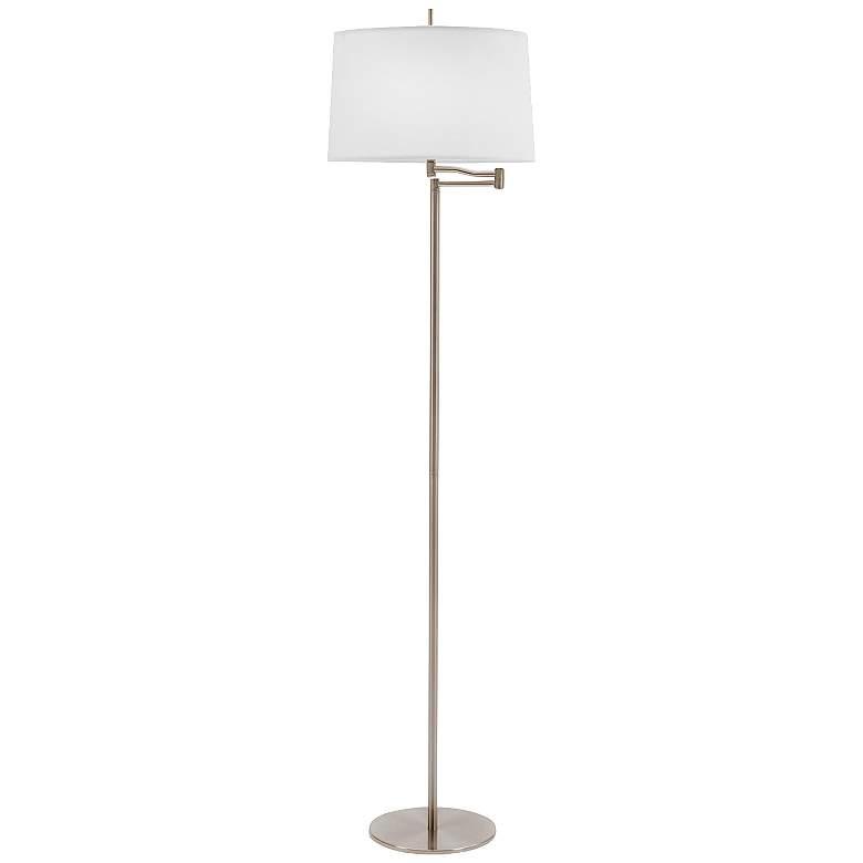 Enola Brushed Steel Swing Arm Floor Lamp