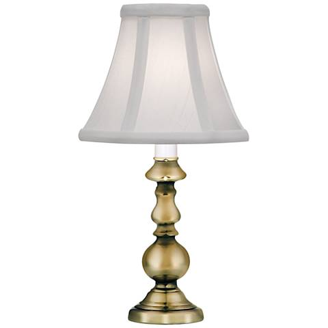 "Stiffel Elyse 11 1/2""H Burnished Brass Metal Accent Lamp"