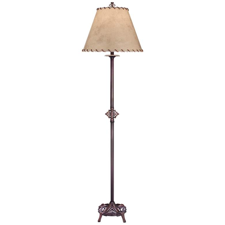 Stiffel Carson Oxidized Bronze Metal Floor Lamp