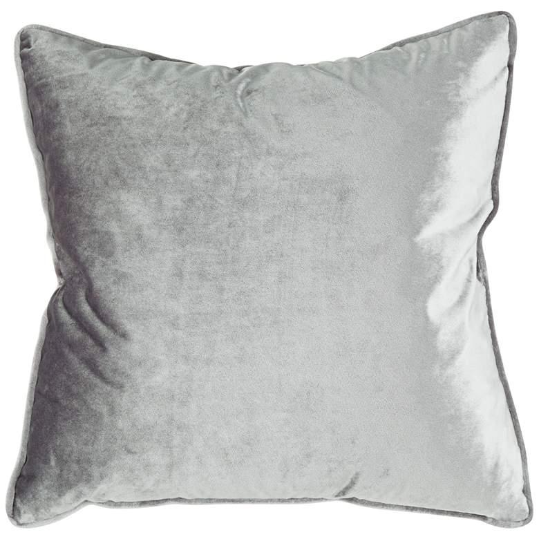 "Tessa Ash Velvet 18"" Square Decorative Pillow"