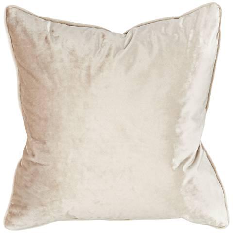 "Tessa Flax Velvet 18"" Square Decorative Pillow"