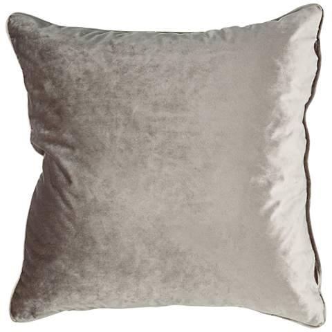 "Tessa Walnut Velvet 18"" Square Decorative Pillow"