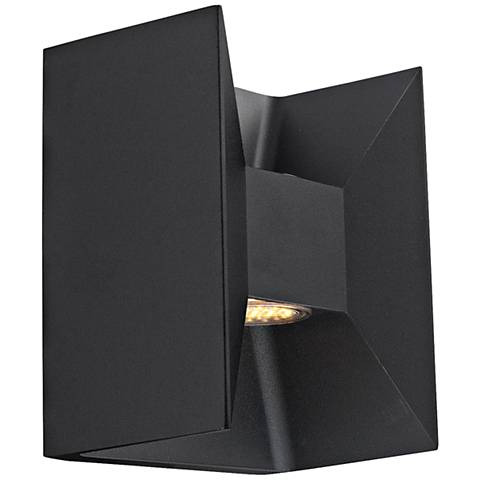 "Eglo Morino 5 1/2 "" Wide Black LED Outdoor Wall Light"