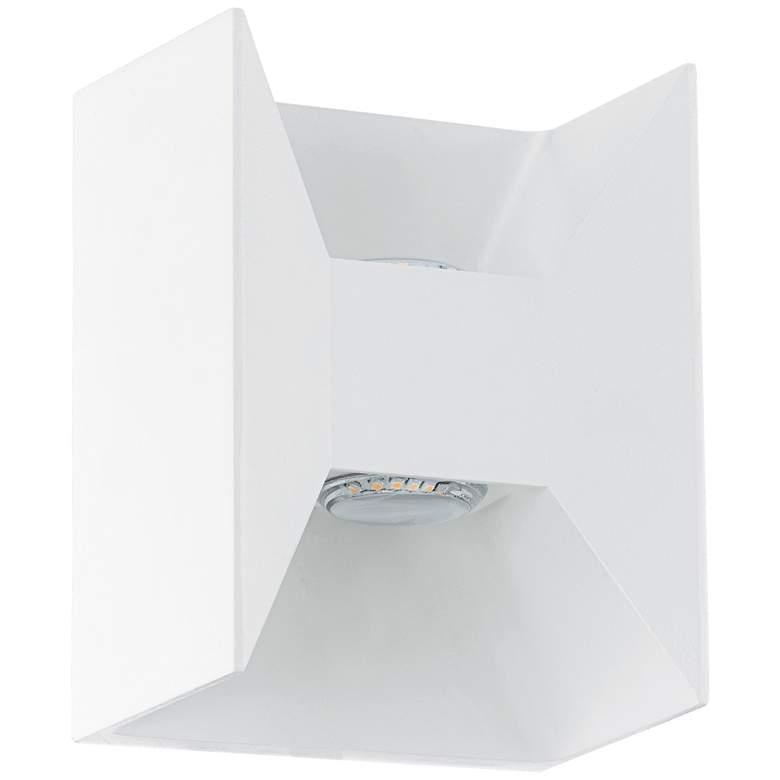 "Eglo Morino 5 1/2"" Wide White LED Outdoor"