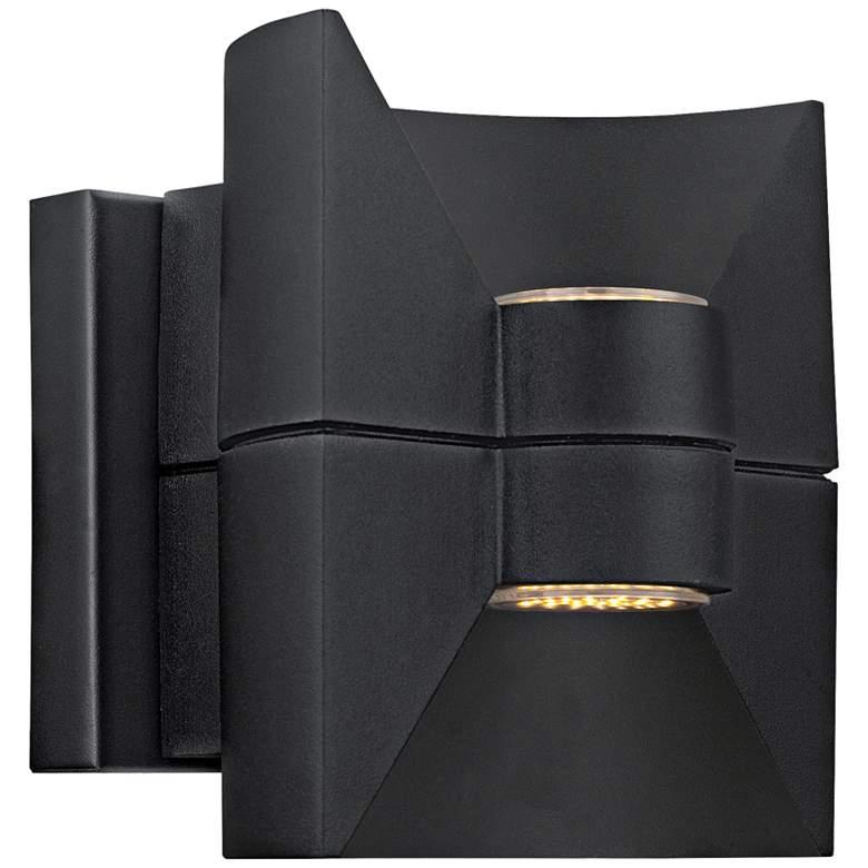 "Eglo Redondo 6 1/2"" Wide Black LED Outdoor Wall Light"