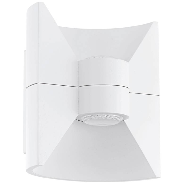 "Eglo Redondo 6 1/2"" Wide White LED Outdoor Wall Light"