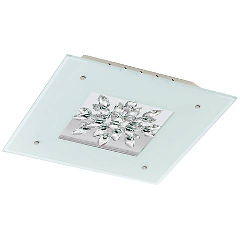 "Eglo Benalua 18 1/2"" Wide Crystal LED Ceiling Light"