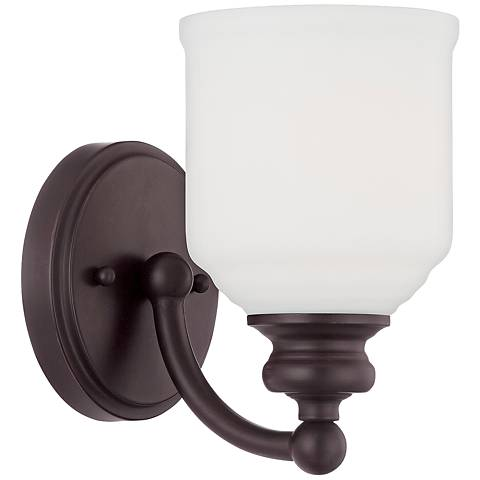 "Savoy House Melrose 7 3/4""H English Bronze Wall Sconce"