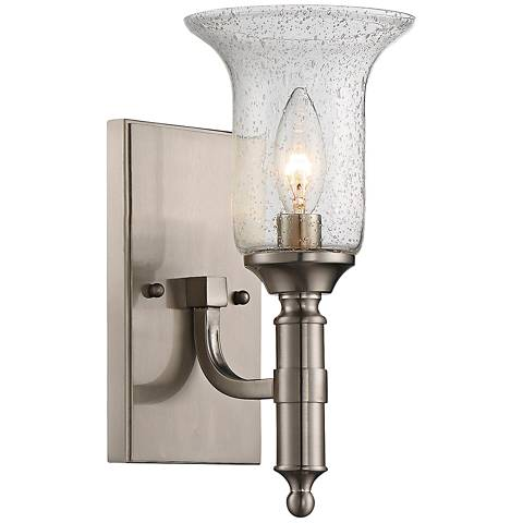 "Savoy House Trudy 11 1/4"" High Satin Nickel Wall Sconce"
