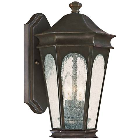 "Capital Inman Park 17"" High Old Bronze Outdoor Wall Light"