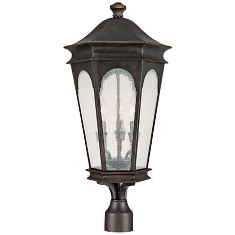 "Capital Inman Park 28"" High Old Bronze Outdoor Post Light"