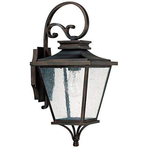 "Capital Gentry 19"" High Old Bronze Outdoor Wall Light"