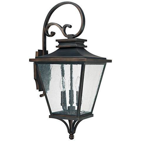 "Capital Gentry 26 1/2"" High Old Bronze Outdoor Wall Light"
