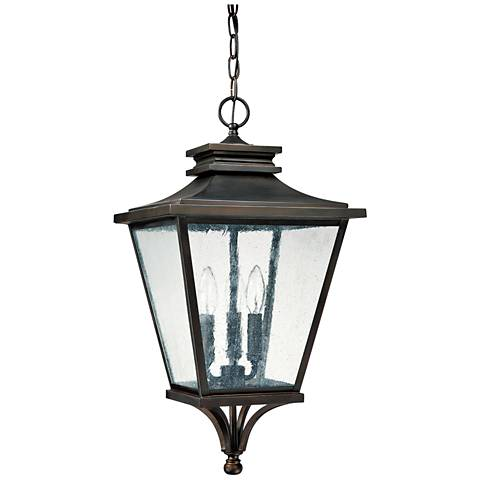 "Capital Gentry 22 1/2""H Old Bronze Outdoor Hanging Light"