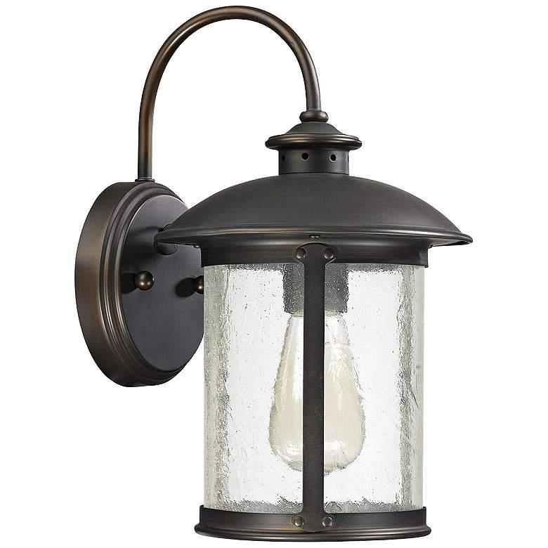 """Capital Dylan Glass 12 1/2""""H Bronze Outdoor Wall Light"""