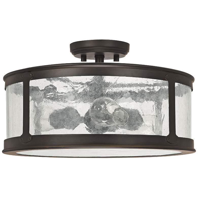 """Capital Dylan Glass 16""""W Old Bronze Outdoor Ceiling"""