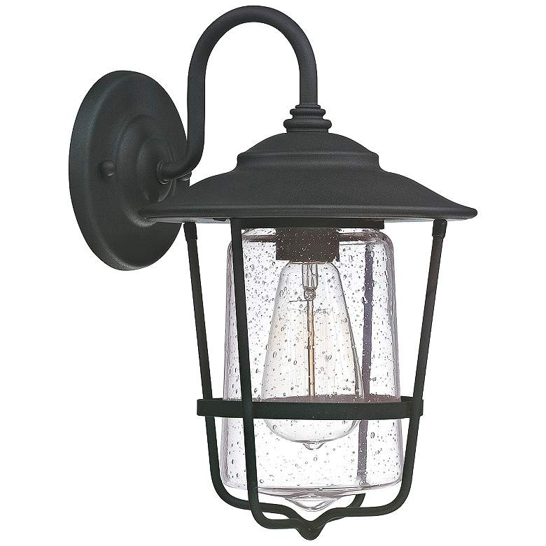 "Capital Creekside 13 1/4"" High Black Outdoor Wall Light"