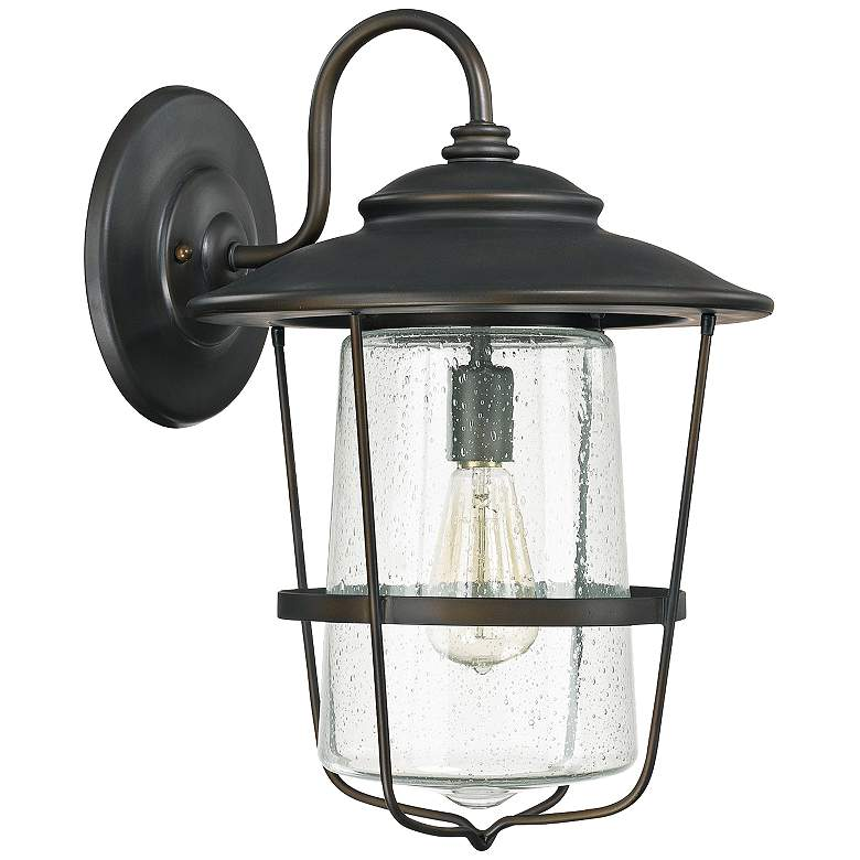 """Capital Creekside 18 1/2""""H Old Bronze Outdoor Wall Light"""