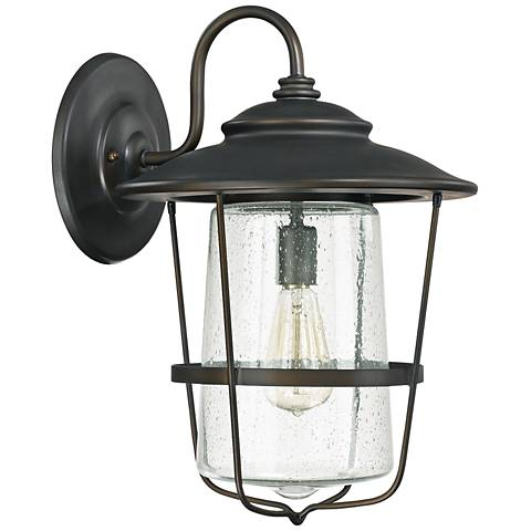 "Capital Creekside 18 1/2""H Old Bronze Outdoor Wall Light"