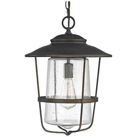 "Capital Creekside 17 1/2""H Old Bronze Outdoor Hanging Light"