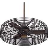 "32"" Vintage Breeze™ Bronze - Black Cage Ceiling Fan"