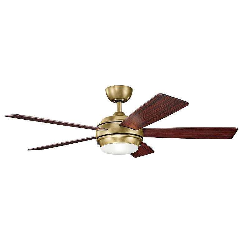 """52"""" Kichler Starkk Natural Brass Ceiling Fan"""