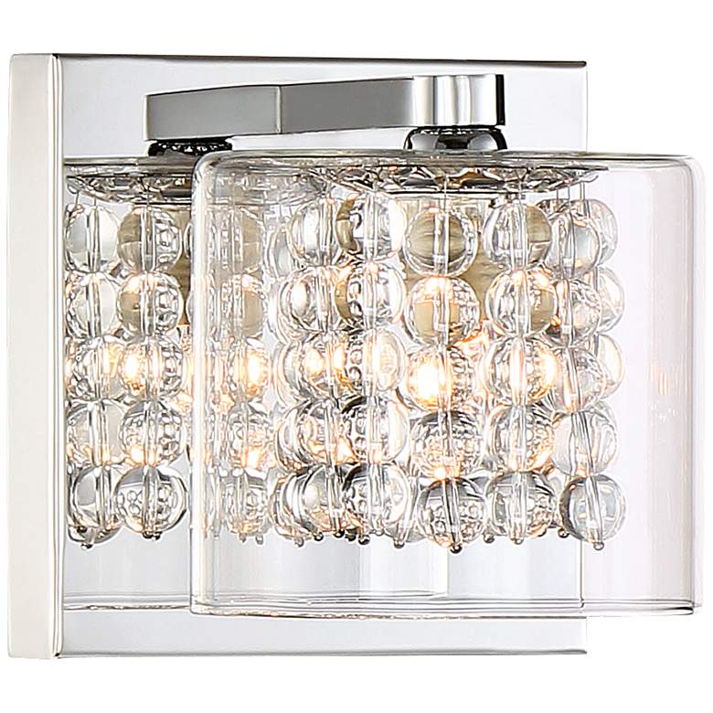 """Possini Euro Coco 4 3/4"""" High Crystal and Chrome Wall Sconce"""
