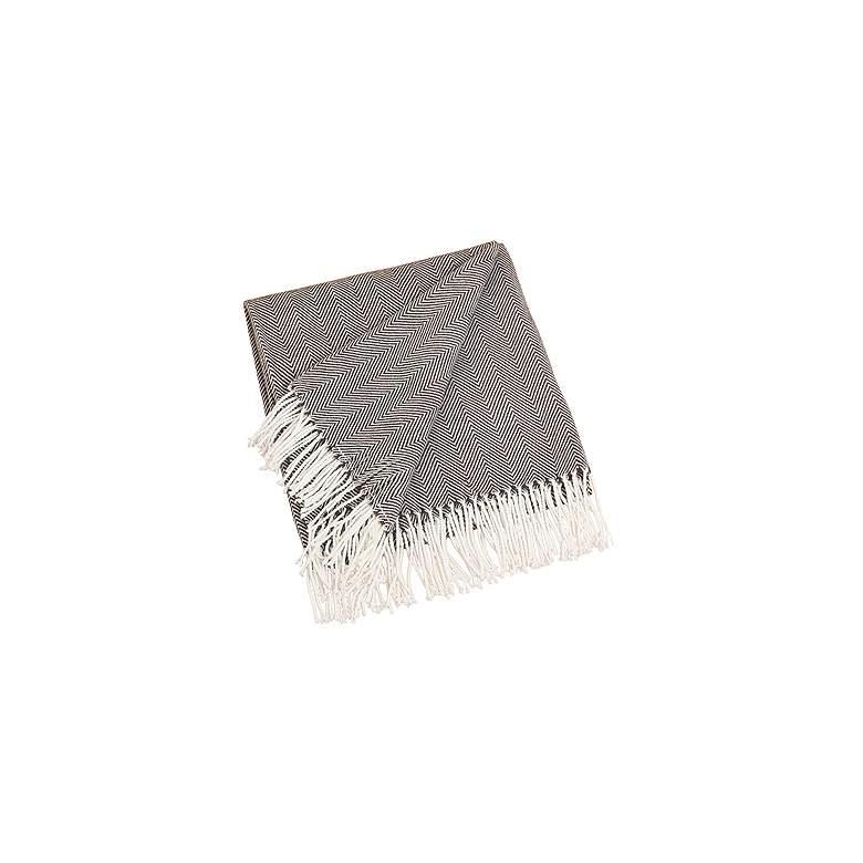 Chocolate Herringbone Design Throw Blanket