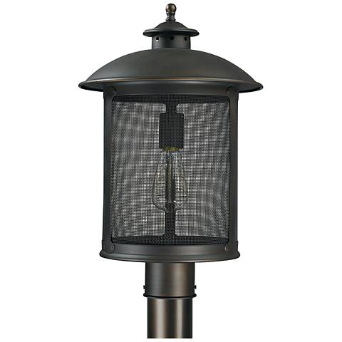"Capital Dylan Mesh 17"" High Old Bronze Post or Hanging Light"