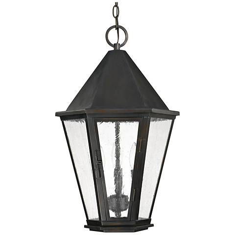 "Capital Spencer 22 3/4""H Old Bronze Outdoor Hanging Light"
