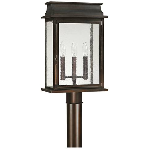 "Capital Bolton 19 1/4"" High Old Bronze Outdoor Post Light"