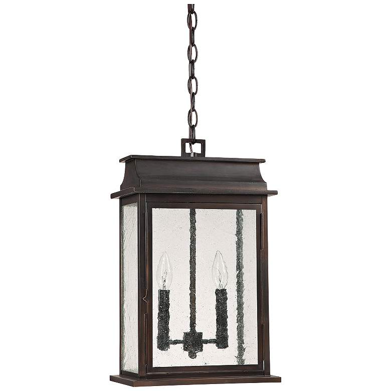 "Capital Bolton 18 3/4""H Old Bronze Outdoor Hanging Light"