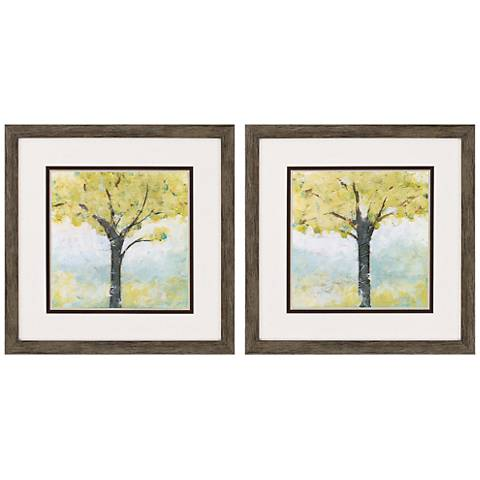 "Spring Arbor 2-Piece 20"" Square Framed Wall Art Set"