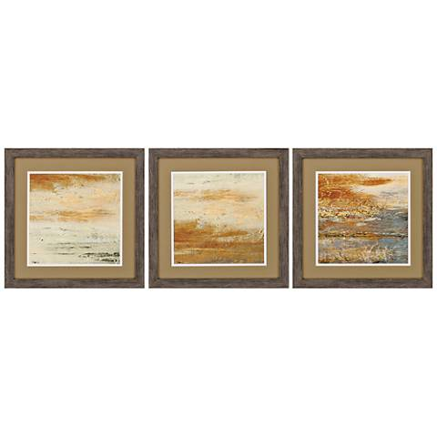 "Sienna Abstract 3-Piece 18"" Square Framed Wall Art Set"