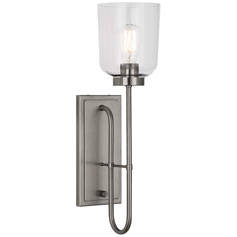 """Tyrie 22 1/4"""" High Antique Nickel Wall Sconce"""