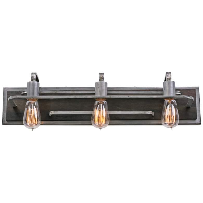 "Varaluz Lofty 25 1/2"" Wide Steel and Wood Bath Light"