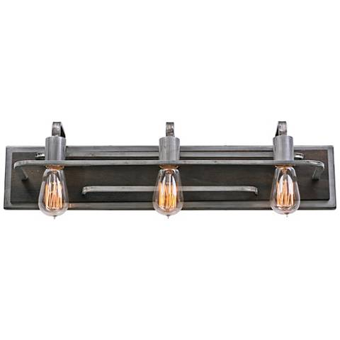"Varaluz Lofty 25 1/2"" Wide Steel and Wood Bath Light"