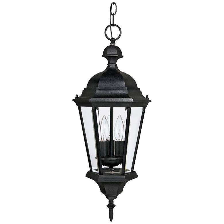 """Carriage House 23"""" High Black Outdoor Hanging Light"""
