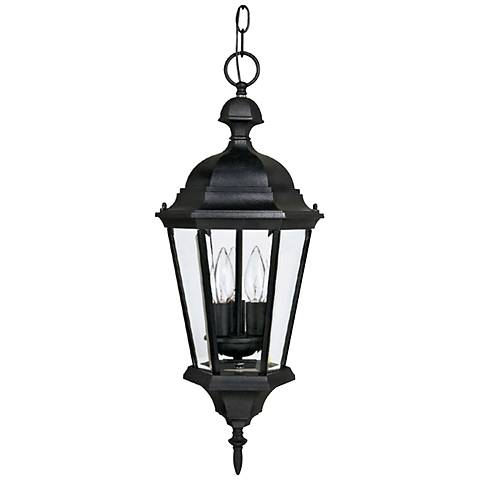 "Carriage House 23""H Black Outdoor Hanging Light"