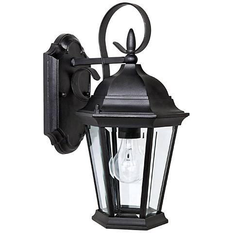 "Capital Carriage House 16"" High Black Outdoor Wall Light"