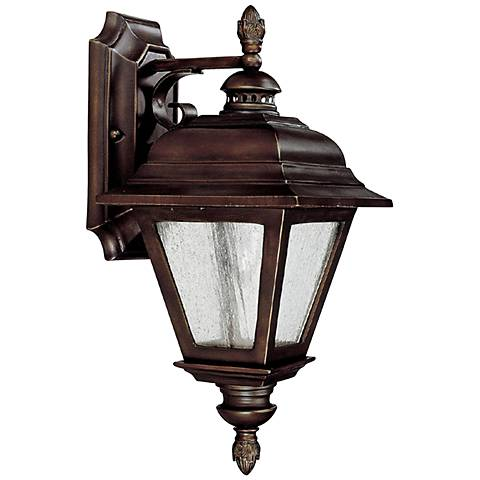 "Capital Brookwood 13 3/4"" High Bronze Outdoor Wall Light"