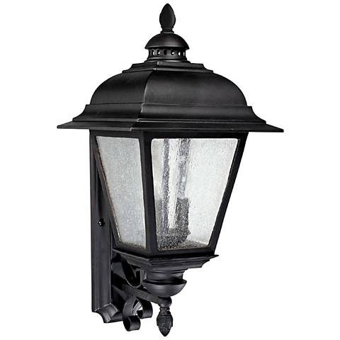 "Capital Brookwood 25"" High Large Black Outdoor Wall Light"