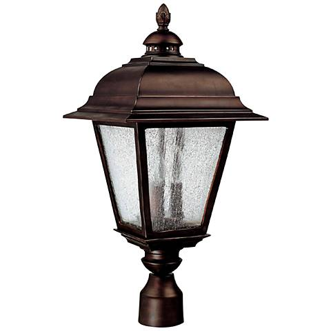 "Capital Brookwood 24"" High Old Bronze Outdoor Post Light"
