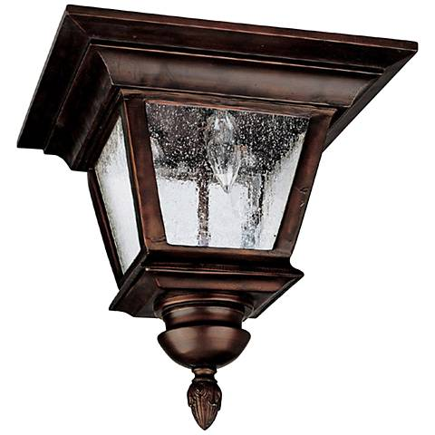 "Capital Brookwood 11 1/2""W Bronze Outdoor Ceiling Light"