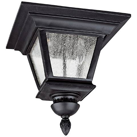 "Capital Brookwood 11 1/2""W Black Outdoor Ceiling Light"