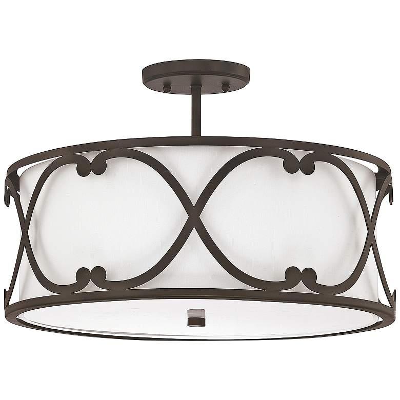 "Donny Osmond Home Alexander 18""W Bronze Ceiling Light"